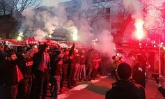 ՏԵՍԱՆՅՒԹ. Հայաստան հուպ տուր...ՖԱՖ-ի երթը Հայաստան - Հունաստան խաղից առաջ