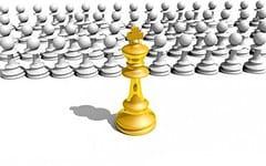 Schach Gold König