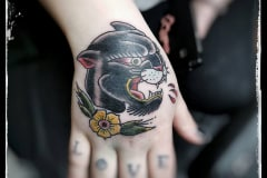 Old-School-Tattoo-Hand-Panther