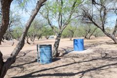 Metal Trash Barrel