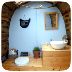 plush, eco campsite toilet