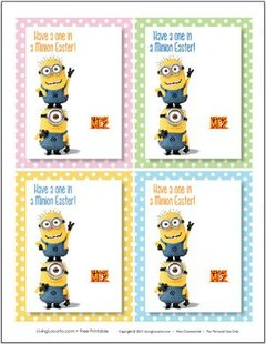 Despicable Me 2 Minion Candy Spoons | Easter Fun Food Idea | Free Printables Living Locurto | Party Idea