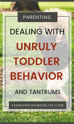 dealing with unruly toddler behavior
