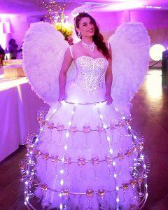robe à champagne, thème Ange