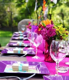 Beautiful outdoor birthday party ideas for adults. LivingLocurto.com