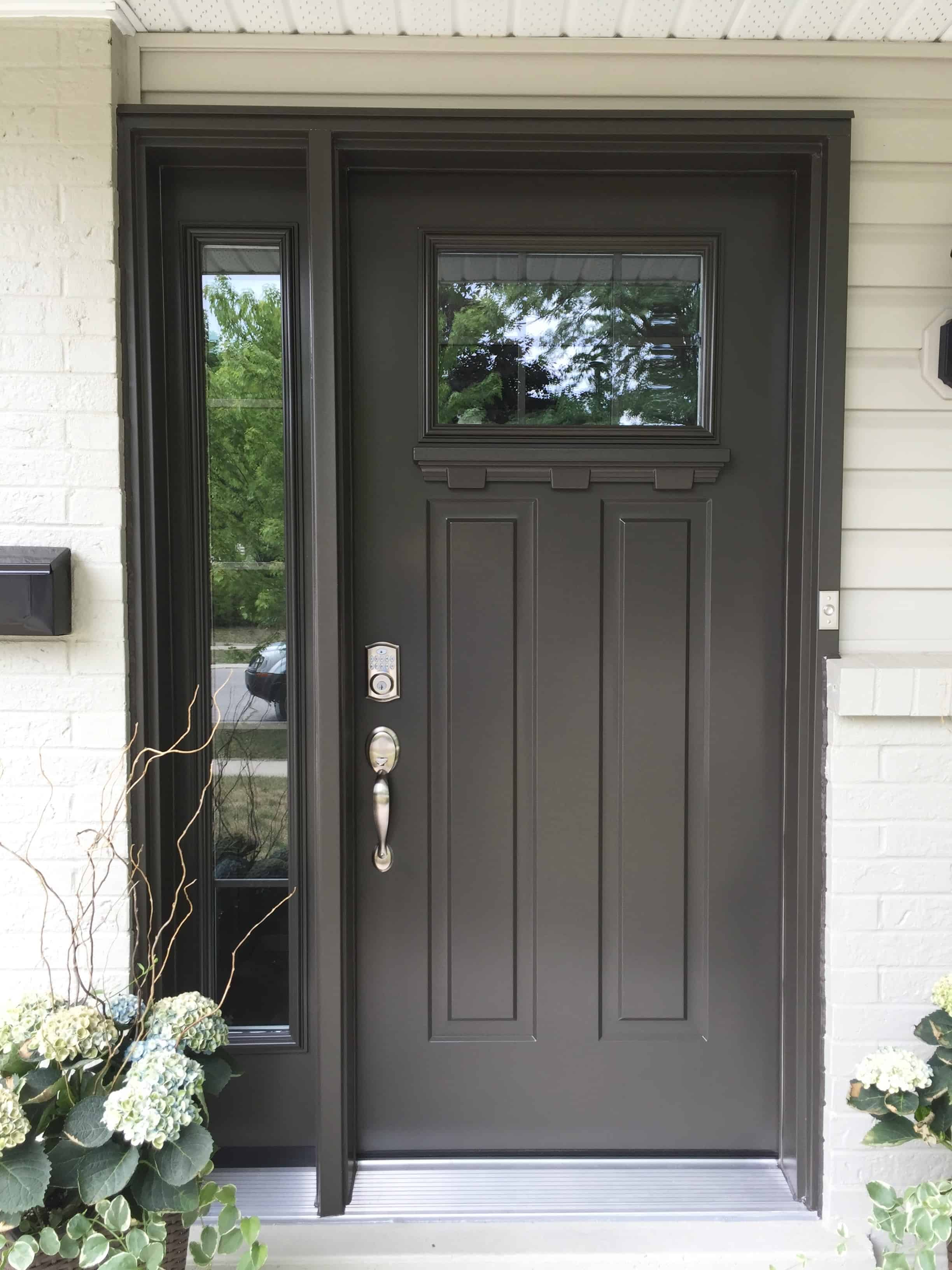Front Door in the colour Commerical Brown