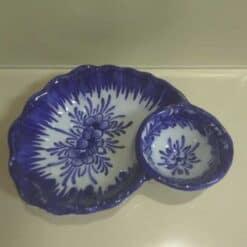 Azeitoneira em porcelana azul