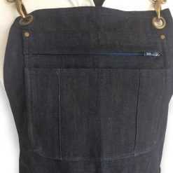 Denim apron multipocket front view