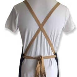 Denim apron multipocket back view