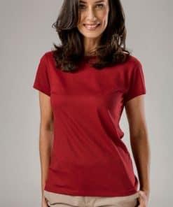 Tshirt senhora ankara vermelha cintada.