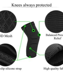 Elastic knees pad protection