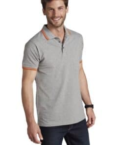 Grey Polo Man short Sleeve