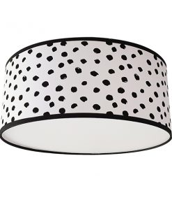 plafondlamp dots black / whites