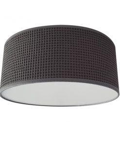 Plafondlamp Wafelstof Donkergrijs