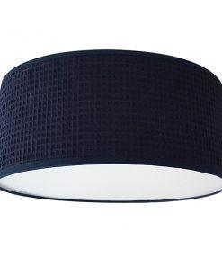 Plafondlamp Wafelstof donker blauw_BiLiCreaties