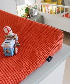Aankleedhoes-Wafelstof-Basic-terracotta-rood