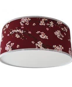 plafondlamp lentebloesem bordeau rood