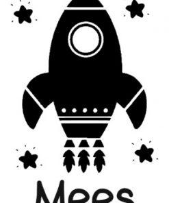 ruimtedeursticker