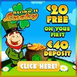 Strike It Lucky Casino | £€$20 free chip bonus and 100 free spins