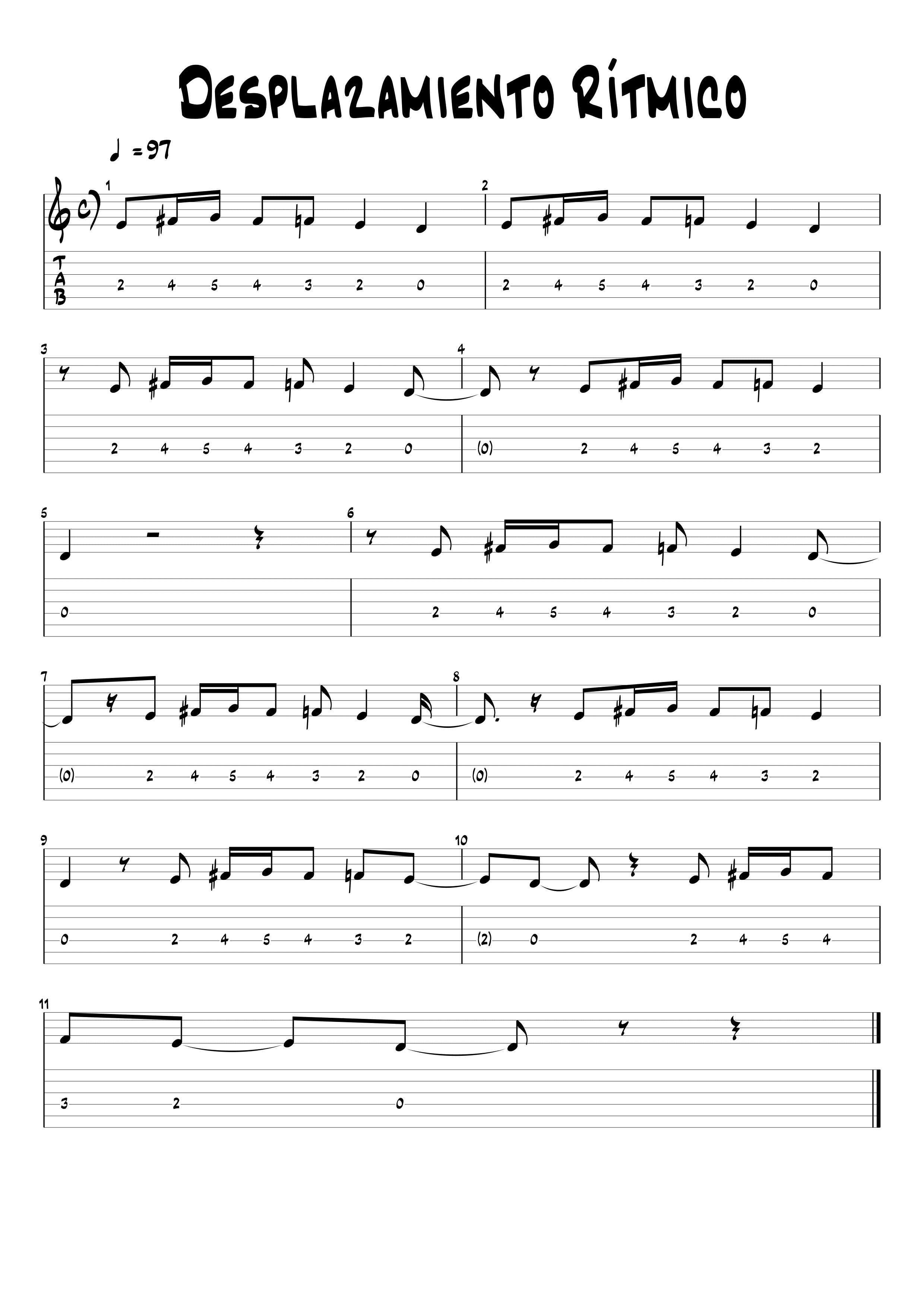 desplazamiento rítmico