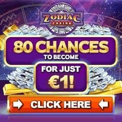 Zodiac Casino 80 free spins on Mega Moolah + 150% free bonus
