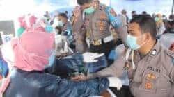 Ratusan Anggota Polres Purwakarta Saat Menjalani Vaksinasi Covid-19