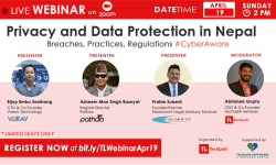 """WEBINAR on """"Privacy and Data Protection in Nepal"""" Scheduled for April 19, Sunday at 2PM"""