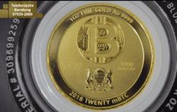 Gold, Bitcoin, Münze