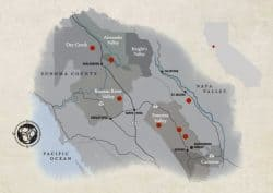Map of Sonoma Wine Country and Sonoma AVA's