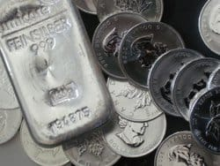 Silber, Münzen