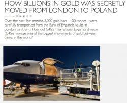 Gold, Transport, Polen, G4S
