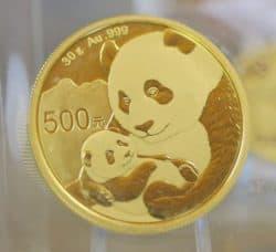 Gold, China Panda