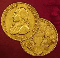 Gold, Münze, Washington