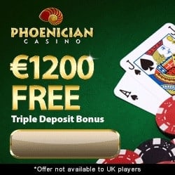 Phoenician Casino 100 free spins + 100% up to $1200 free bonus