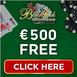 Blackjack Ballroom Casino | $500 free play & free spins bonus | review