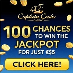 Captain Cooks Casino   100 free spins and $500 free bonus   review