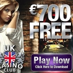 UK Casino Club | 170% up to €700 bonus and extra free spins | Review