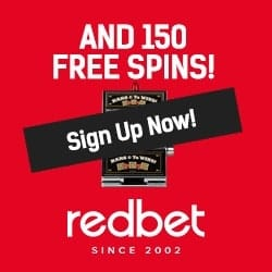 Redbet Casino | $/£/€1000 free bonus + 150 free spins | Review