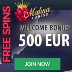 Malina Welcome Bonus and Free Spins