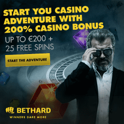 Bethard Casino Review: 25 free spins + 200% up to €200 free bonus