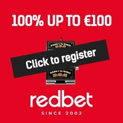 Redbet Casino $100 BONUS and 100 free spins - play and win big!