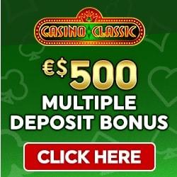 Casino Classic [register & login] $/€500 bonus + 100 free play spins