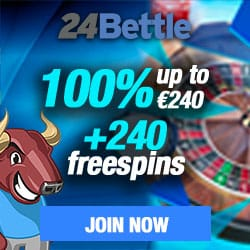 24Bettle Casino (24Bettle.com) 100% bonus and 240 free spins