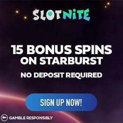 15 free spins bonus no deposit needed (Starburst) - exclusive promotion
