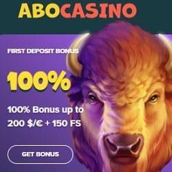 100% bonus in AboCasino.com