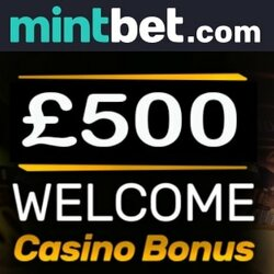 Mintbet Casino 100% bonus up to £/€500 + free spins + free bets