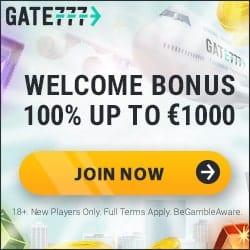 Gate 777 Casino [register & login] €1000 + 100 bonus spins