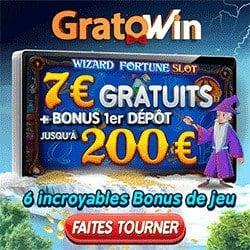 Get €7 gratis bonus to play for free at GratoWin Casino!