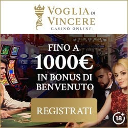 VogliadiVincere.it €1000 gratis bonus & free spins