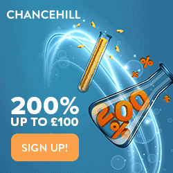 Chance Hill Casino £300 bonus and 200 free spins (Closed)